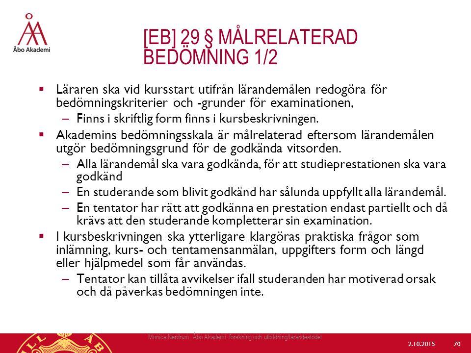 [eb] 29 § målrelaterad bedömning 1/2